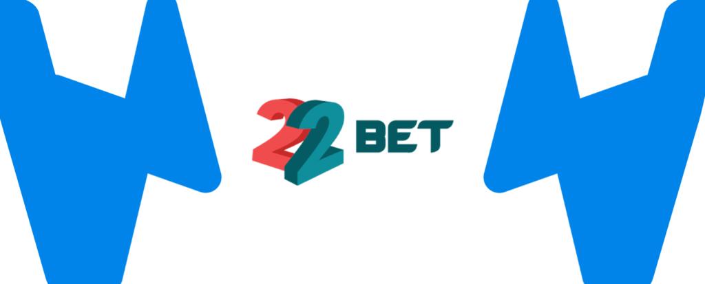 Kleines 22bet Logo mit Wettzentrum Design