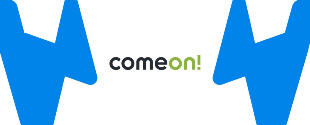 Mittleres ComeOn Logo mit Wettzentrum Design