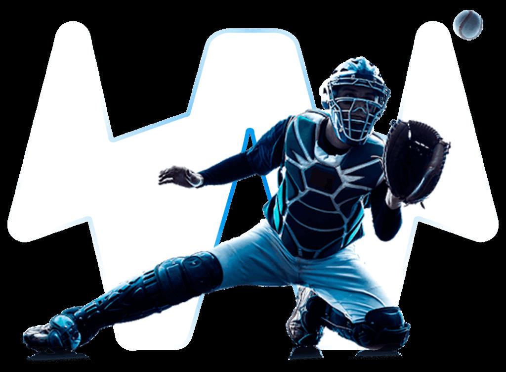 Baseballspieler mit transparentem Hintergrund