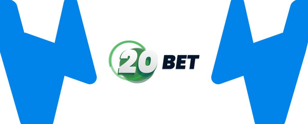 Kleines 20Bet Logo mit Wettzentrum Design