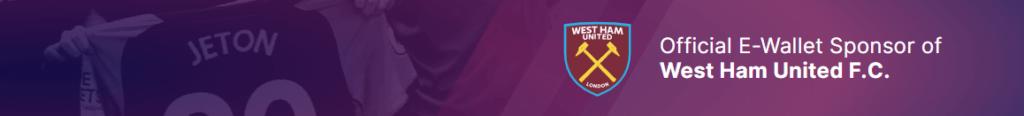 Jeton Banner mit West Ham Logo
