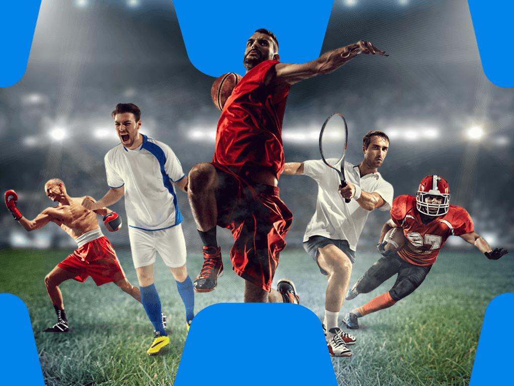 Sportler in Jubelposen