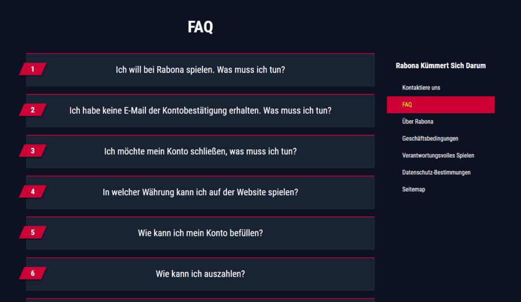 Rabona FAQ