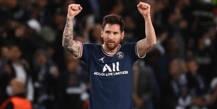 Lionel Messi in Jubelpose